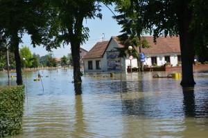 The flooding in Bijeljina