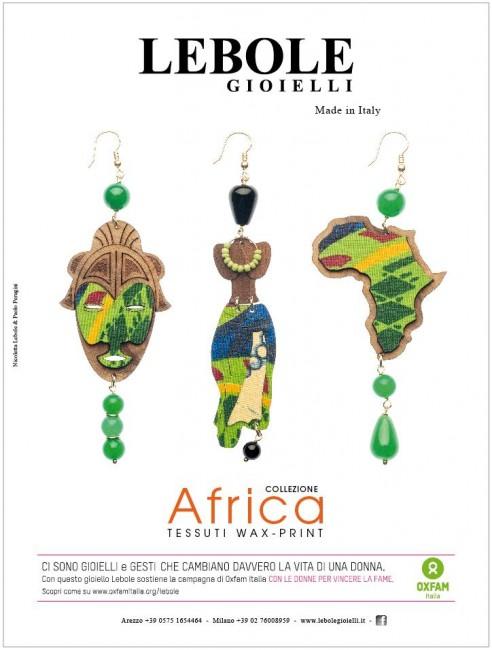 Alcuni gioielli della Collezione Africa di Lebole