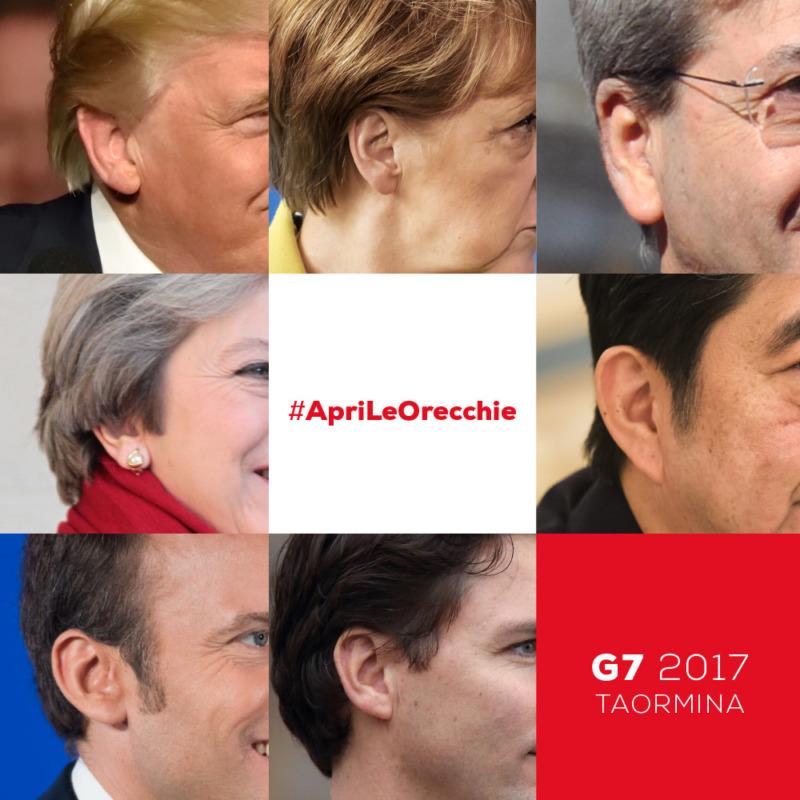 Al G7 a Taormina chiediamo di non ignorare i problemi che colpiscono l'umanità e il pianeta e di agire concretamente per cambiare le cose